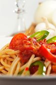 Spicy Italian Pasta Tomato And Chili Peppers Sauce poster