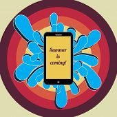 Smartphone Advertising in Retro Style | EPS10 Vector Background