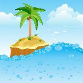 Desert Island In Oceaan