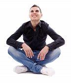 Young Man Sitting Cross Legged