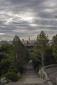 Cityscape Of Beijing, View From The Hill In Jingshan Park.