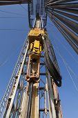 stock photo of shale  - Rig station working in drilling and dig operation - JPG