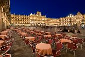Mayor Square, Salamanca, Castilla Y Leon, Spain