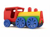 Toy Train. 3D Model Isolated On White Background