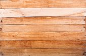 stock photo of wooden crate  - Textured bottom of the wooden box with hammered nails - JPG