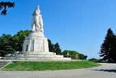 VARNA, BULGARIA - AUGUST 26, 2011: Monument to Russian soldiers in Seaside Park in Varna, Bulgaria
