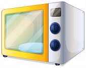 Illustration of a microwave on a white background