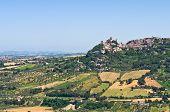 Panoramic view of San Marino. Emilia-Romagna. Italy.