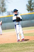 Little League Pitcher Waiting To Pitch