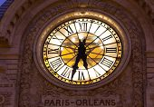 Clock In The Museum Of Orsay, Paris, Ile De France, France