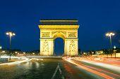 picture of charles de gaulle  - Arc de triomphe Charles de Gaulle square Paris Ile de France France - JPG