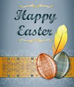 foto of pasqua  - Easter greeting card with eggs - JPG