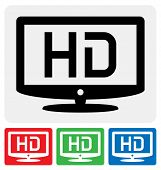 High-Definition-TV-Symbol / HDTV-Symbol