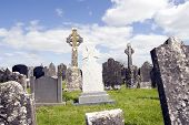 Old Ancient Irish Celtic Graveyard