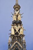 image of kensington  - Fragment of Prince Albert monument in  London - JPG