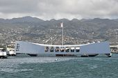USS Arizona Memorial in Oahu, Hawaii