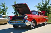 Red 1957 Chevrolet Bel Air
