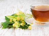 Cup Of Tea And Linden Flowers