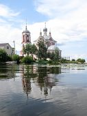 Pereslavl. Forty Martyrs Church in the mouth of the river Trubezh. Golden ring of Russia