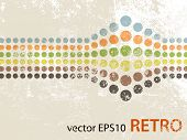 stock photo of dots  - Abstract retro design with dots - JPG