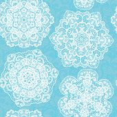 Lace seamless pattern with doilies