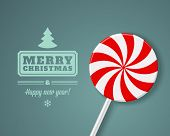 Christmas candy vector background. Christmas card or invitation.