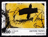 Postage Stamp France 1992 Abstract Painting, By Antoni Tapies