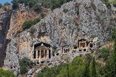 picture of dalyan  - Kaunian rock tombs in Dalyan - JPG