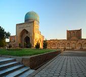 Bibi Khanym mosque at sunset light. Samarkand, Uzbekistan