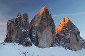 Tre Cime di Lavaredo, The Dolomites, Italy - sunsrise light