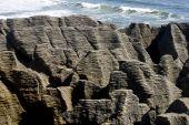 Pancake Rocks At Punakaiki On Westcoast Of Zealand