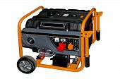 stock photo of generator  - Portable small generator on a white background - JPG