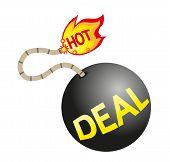 Hot deal sign