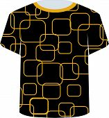 T Shirt Template- yellow rounded rectangles