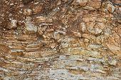 Crumbling Layered Rock