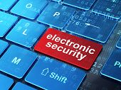 Privacy concept: Electronic Security on computer keyboard