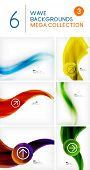 Mega set of wave abstract backgrounds | vector design