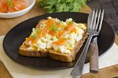 Salmon With Scrambled Egg