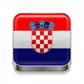 Metal  icon of Croatia