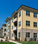 Apartment complex exterior
