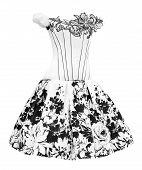 Black And White Ladies Dress