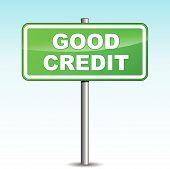 Vector Good Credit Signpost