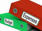 Budget Expenses Folders Mean Business Finances And Budgeting