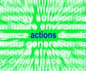 Actions Word Shows Behaviour Manner And Conduct