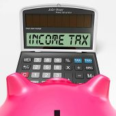 Income Tax Calculator Means Taxable Earnings And Paying Taxes