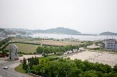 LUSHUN, CHINA - JUNE 10, 2012: Port city Lushun, russian name Port Arthur, is now a naval base in China. Here was the epicenter of the main events of the Russian-Japanese war of 1904-1905.