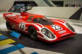 STUTTGART, GERMANY - CIRCA APRIL, 2014: Porsche Museum. PORSHE 917 KH (1970)