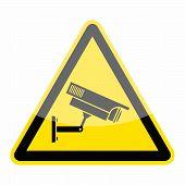 Video surveillance, CCTV camera icon