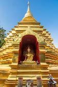 Golden pagoda at Wat Phan Ohn temple in Chiang Mai