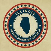Vintage Label Illinois